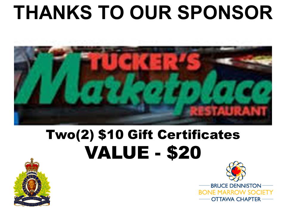 PRIZE DONATION ( $75 > $125) FOR CONTEST WINNER(S)  - TUCKERS MARKET PLACE - Logo