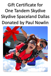 Silent Auction Donations - Skydive Spaceland Dallas - Logo