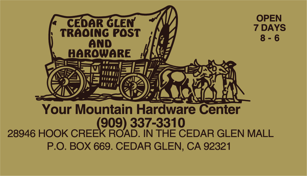 Bronze Sponsor - Cedar Glen Trading Post and Hardware - Logo