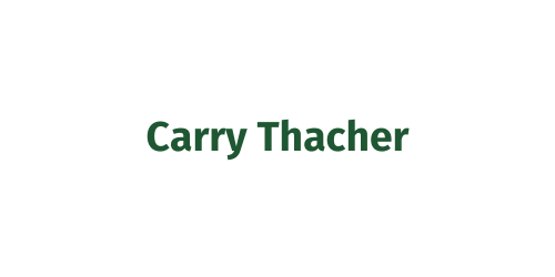 Cart & Hole Sponsor ($500) - Carry Thacher - Logo