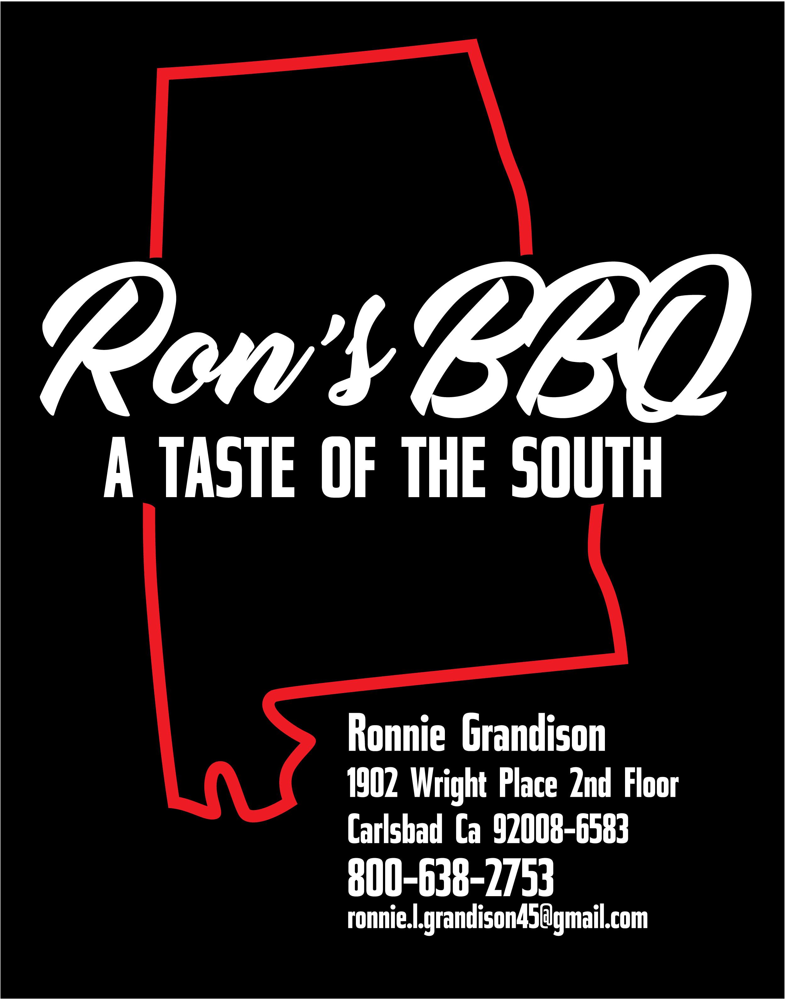 Event Partner - Ron's BBQ - Logo