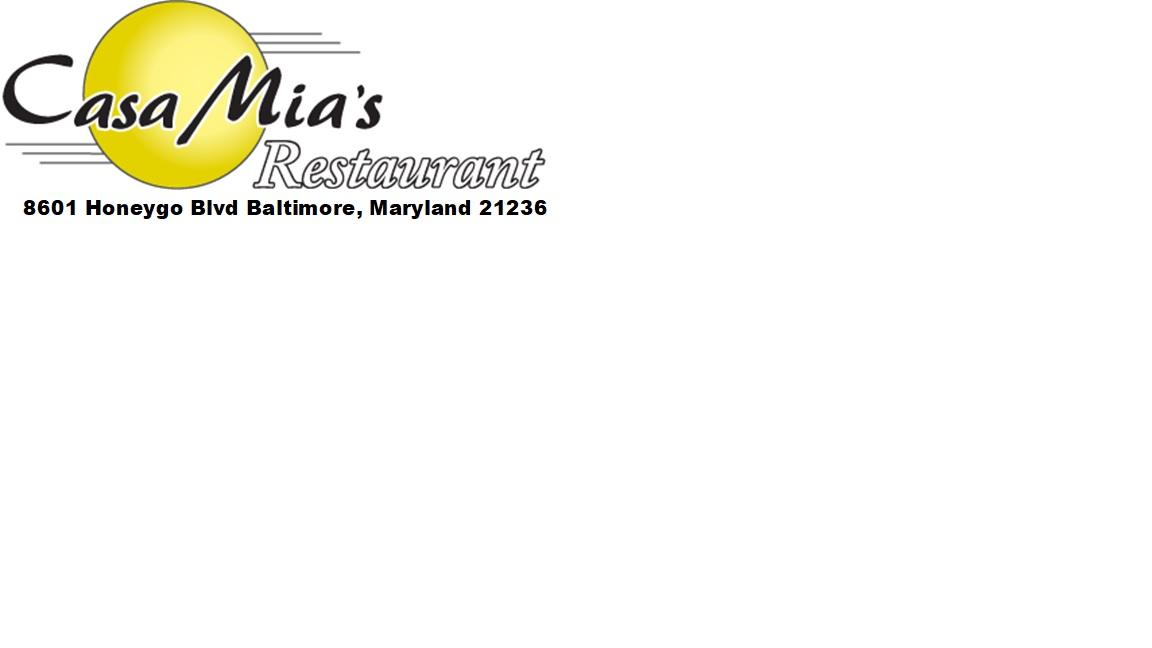 Platinum Title Sponsor - Casa Mias Restaurant - Logo