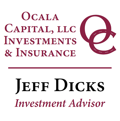 Platinum Sponsor - Ocala Capital, LLC Investments & Insurance / Jeff Dicks, Investment Advisor - Logo