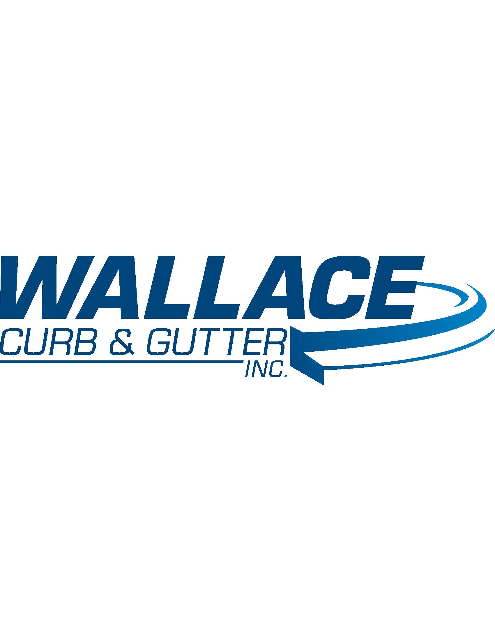 Chipping Contest Sponsor - Wallace Curb & Gutter - Logo