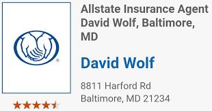 Golf Ball Sponsor - Dave Wolf- Allstate Ins. - Logo