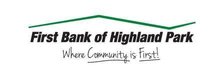 Eagle Sponsors - First Bank of Highland Park - Logo