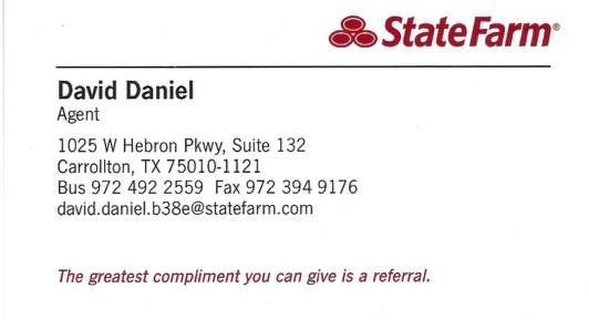 HOLE SPONSOR - David Daniel, State Farm Insurance Agency - Logo