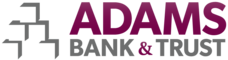 Drink Cart Sponsor - Adams Bank & Trust - Logo