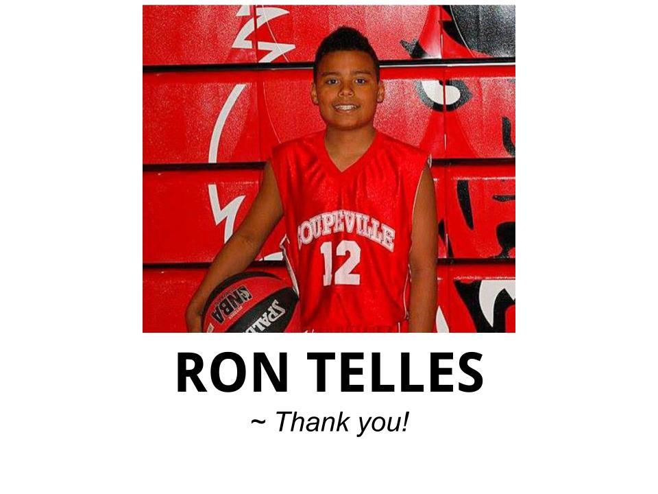 Ron Telles, friend of Bennett Boyles Memorial - Long Drive #18