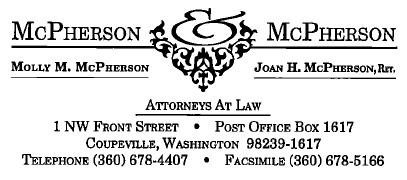 Hole Sponsor - SILVER - McPherson & McPherson Law - Hole Sponsor #8 - Logo