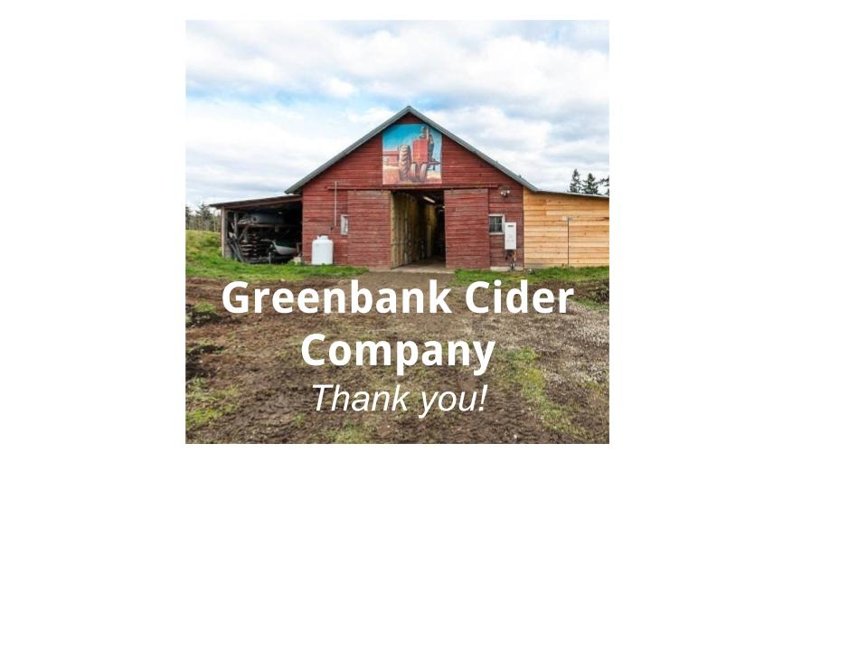 KP Sponsor - GOLD - Greenbank Cider Company - KP Sponsor #17 - Logo