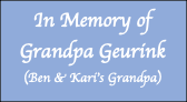 In Memory of  Grandpa Geurink