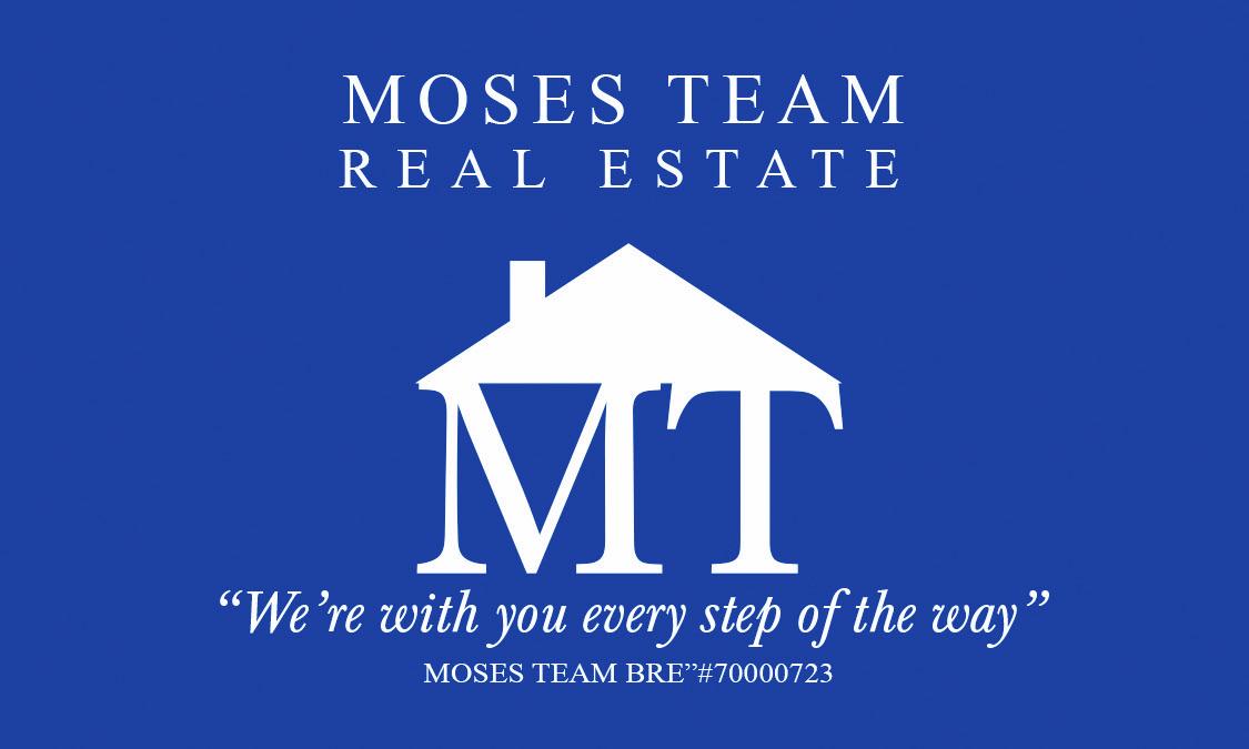 Hole Sponsor $200                        Includes: Hole Sponsor Sign at Golf Event, Listed on Golf Website - Moses Team Real Estate - Logo