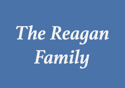 Registration Sponsor - The Reagan Family - Logo