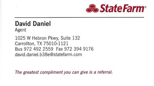 David Daniel, State Farm Insurance Agency