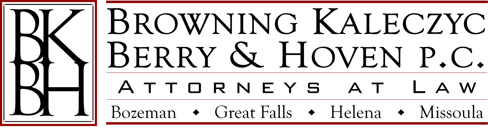 HOLE SPONSOR - Browning, Kaleczyc, Berry & Hoven PC - Logo