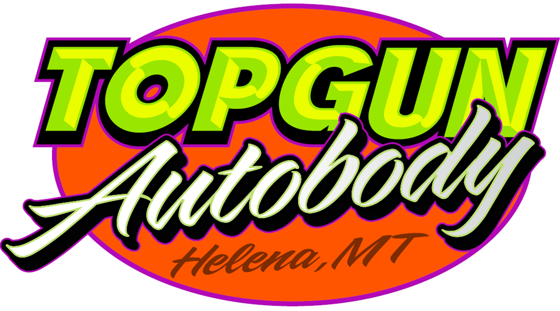 HOLE SPONSOR - Top Gun Autobody - Logo