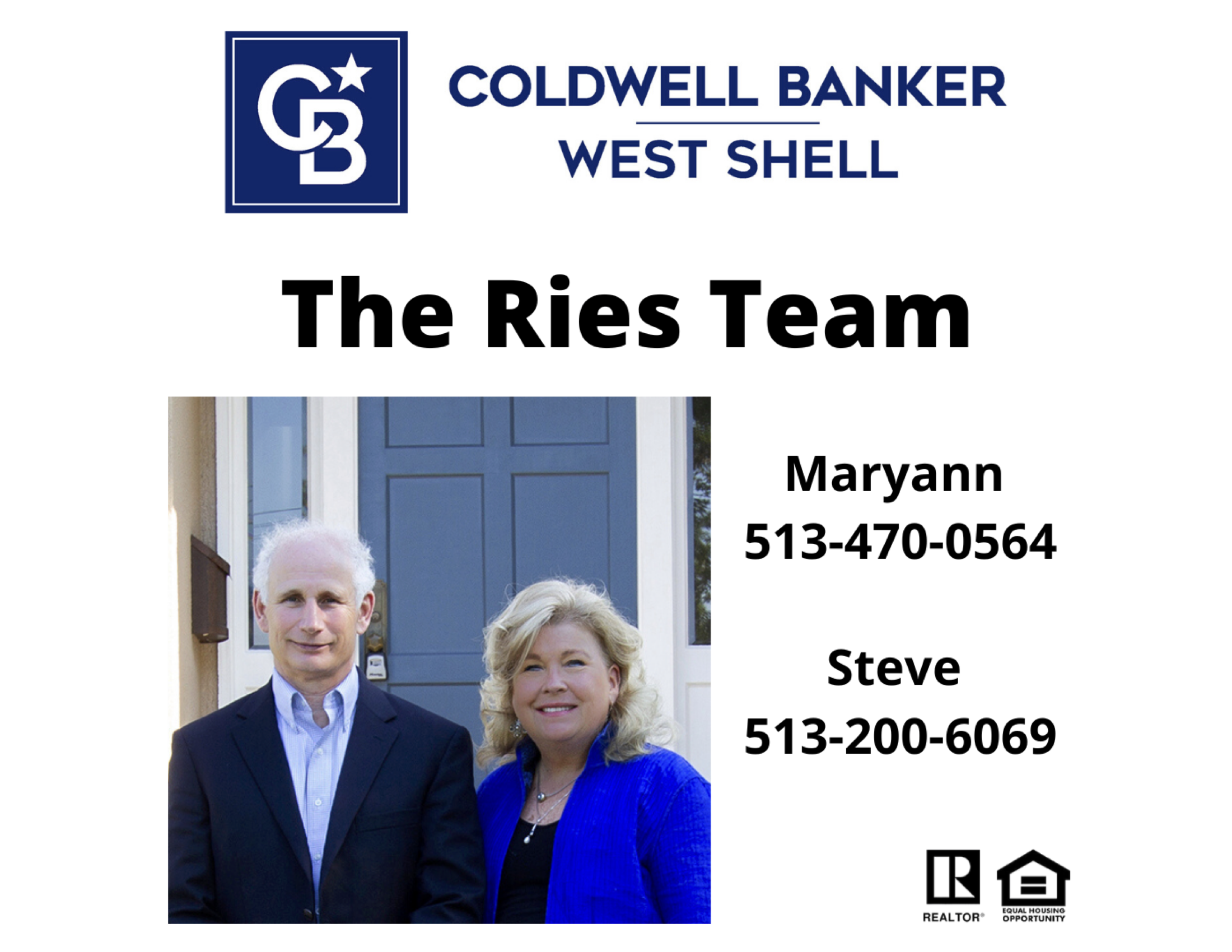 Hole Sponsor - Ries Team, Coldwell Banker/West Shell - Logo
