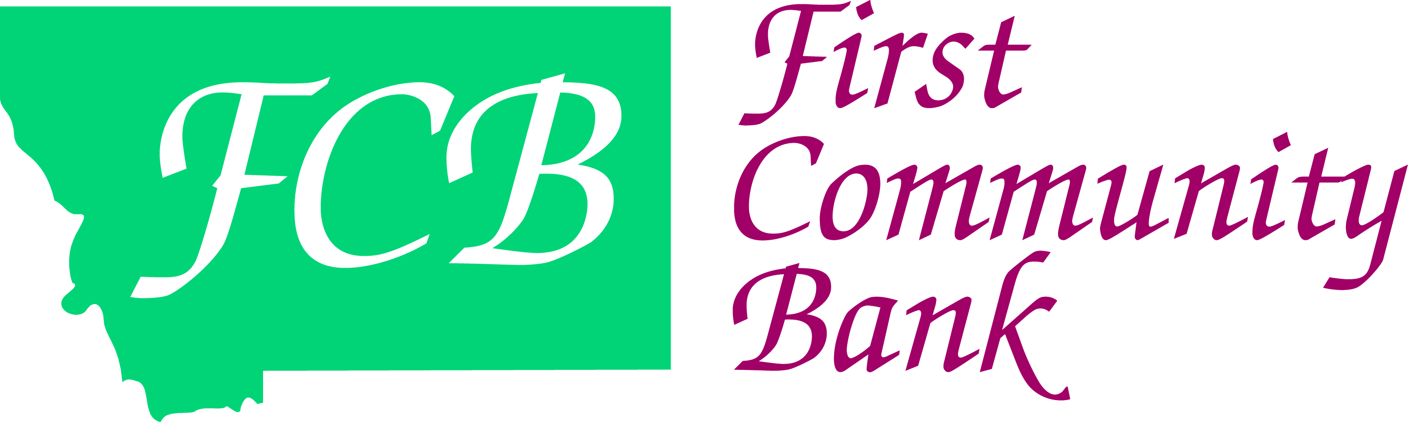 WELCOME BAG SPONSOR - FIRST COMMUNITY BANK - Logo