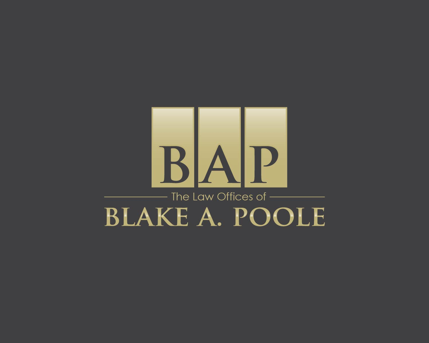 """""""Squad Leader"""" - Title Sponsor - The Law Offices of Blake A. Poole - Logo"""