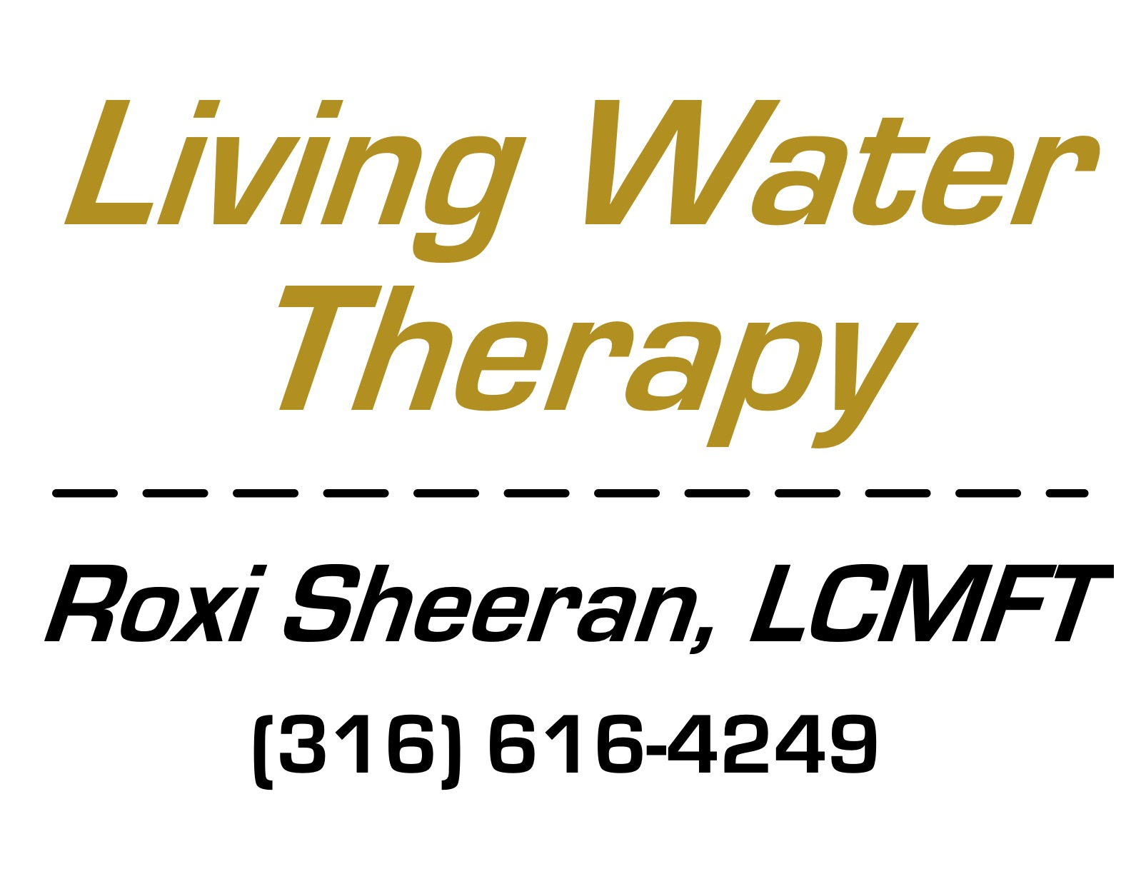 Black & Gold Sponsors - Living Water Therapy - Logo