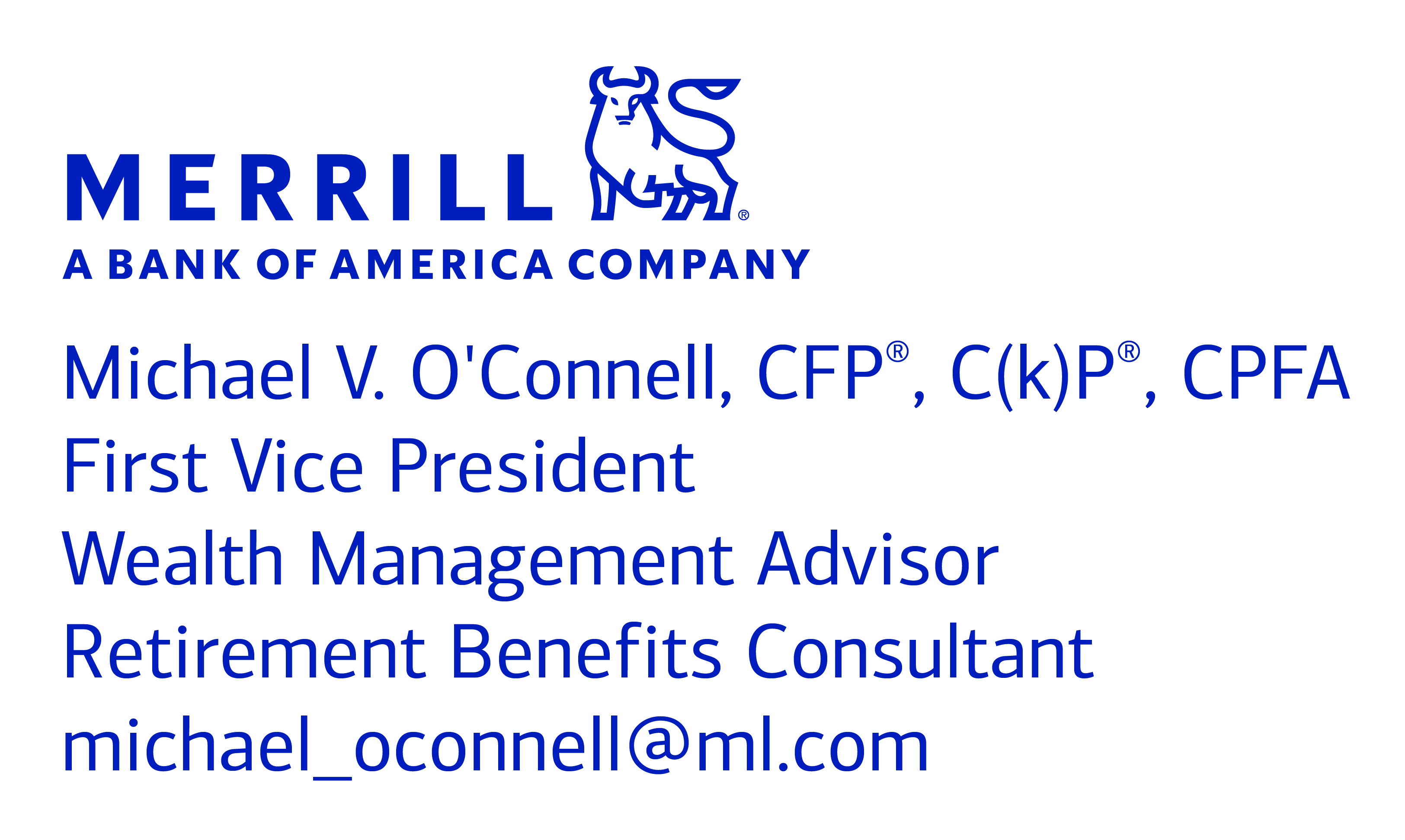 Michael O'Connell of Merrill Lynch