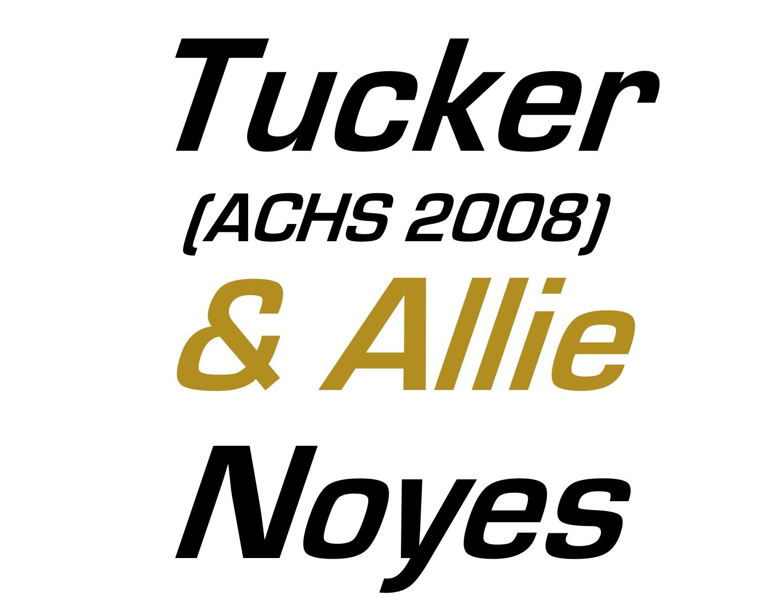 Hole Sponsors - Tucker & Allie Noyes - Logo