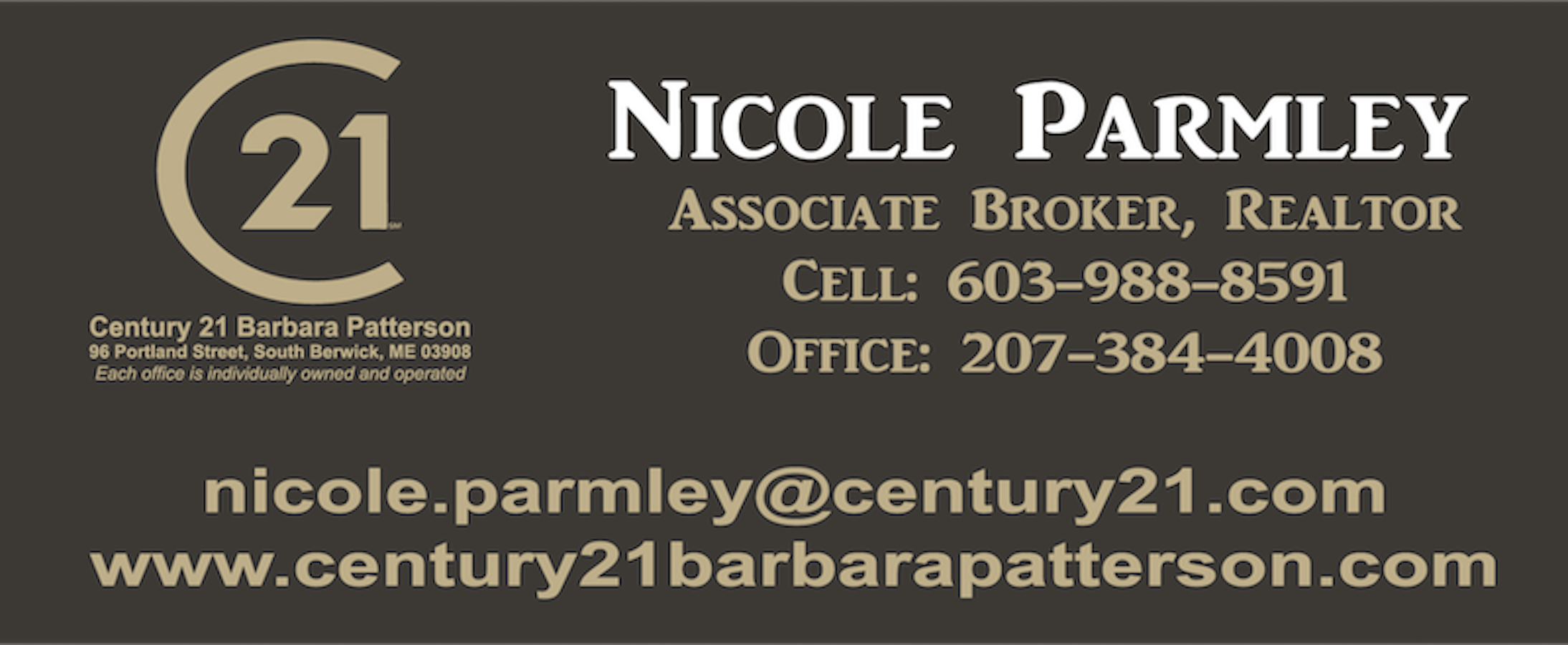 Business  Sponsor $100 - Nicole Parmley - Logo
