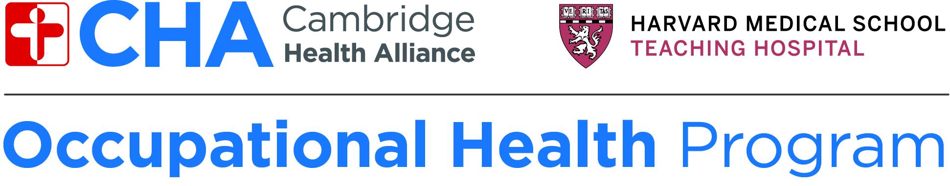 Tee Sponsor - CHA Occupational Health - Logo