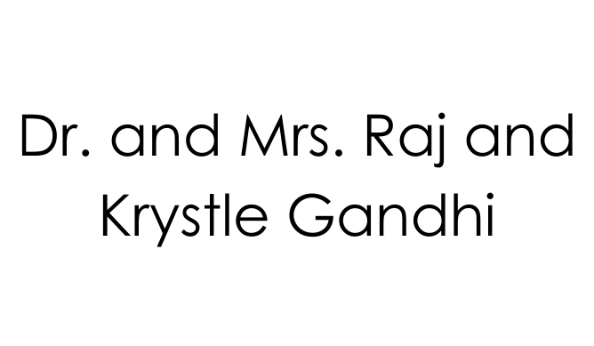 Dr. and Mrs. Raj and Krystle Gandhi