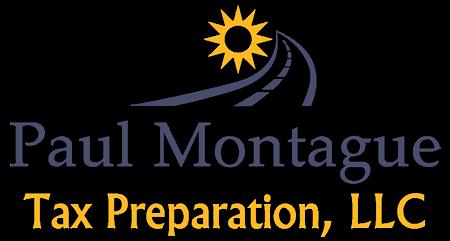 Signature Drink Sponsor  - Paul Montague Tax Preparation, LLC - Logo