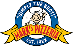 Christie's Blue Coat Sponsor - Mark's Pizzeria - Logo