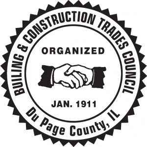 Bloody Mary Bar Sponsor (Sponsor's Banner @ Bloody Mary Bar Table) - DuPage County Building Trades Council - Logo