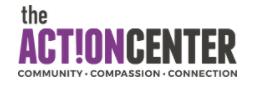Hole sponsor - John Covert c/o the Action Center - Logo