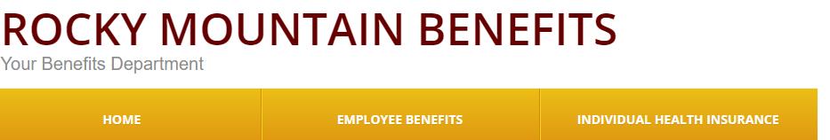 Hole sponsor - Rocky Mountain Benefits c/o Leah Denzel - Logo