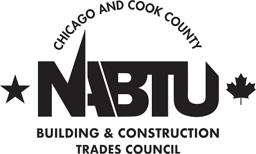 Bloody Mary Bar Sponsor (Sponsor's Banner @ Bloody Mary Bar Table) - Chicago & Cook County Building & Construction Trades Council - Logo