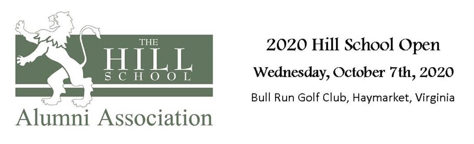 The 2020 Hill School Open Golf Tournament logo