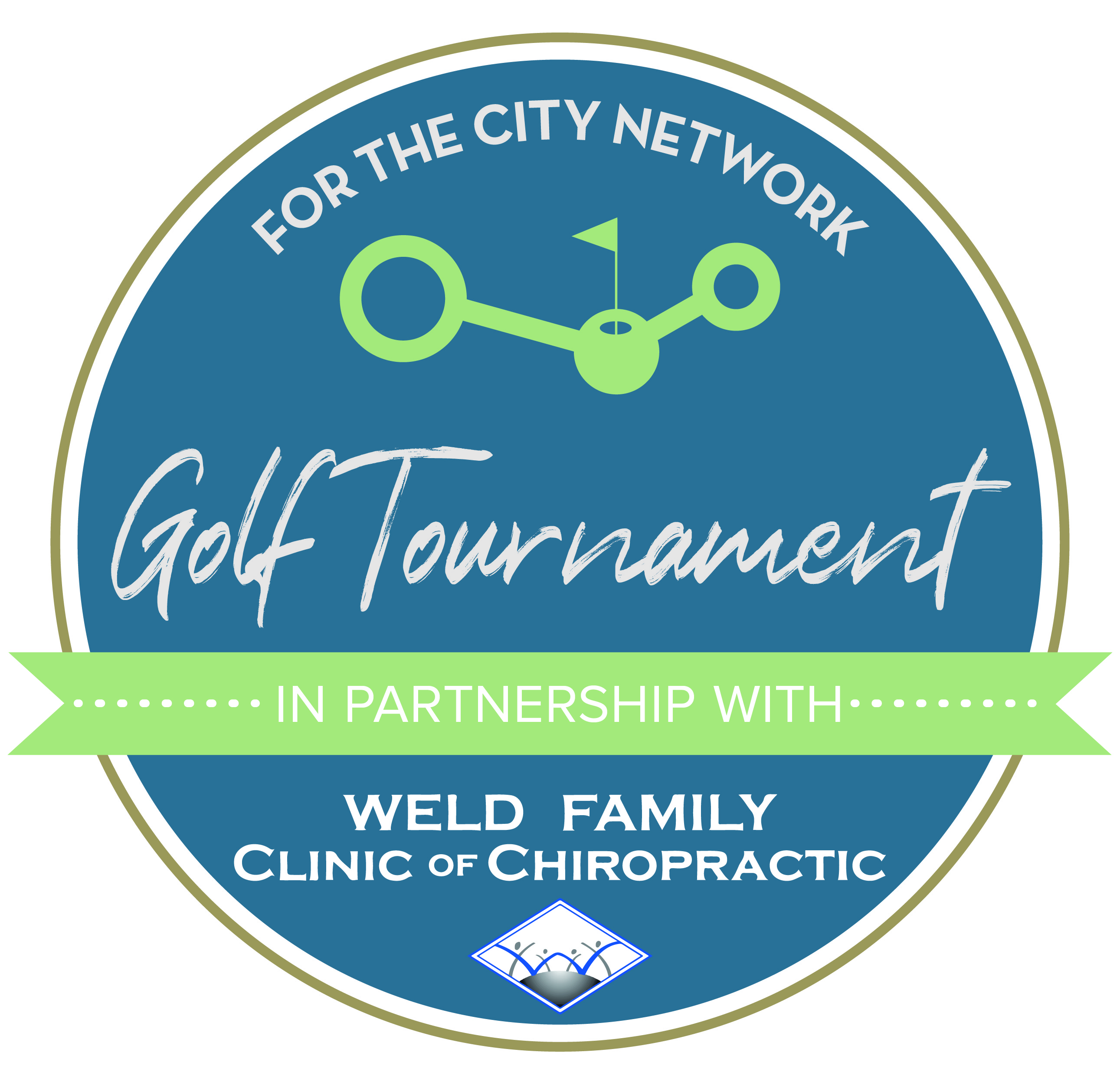 For The City Network in Partnership with Weld Family Clinic of Chiropractic Golf Tournament logo