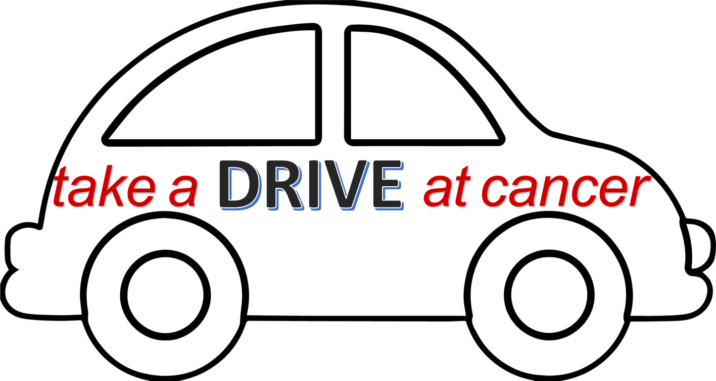 """""""Let's Take a Drive at Cancer"""" Fundraiser logo"""