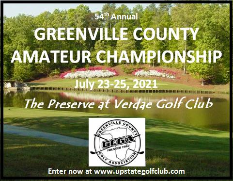54th Annual Greenville County Amateur Championship logo