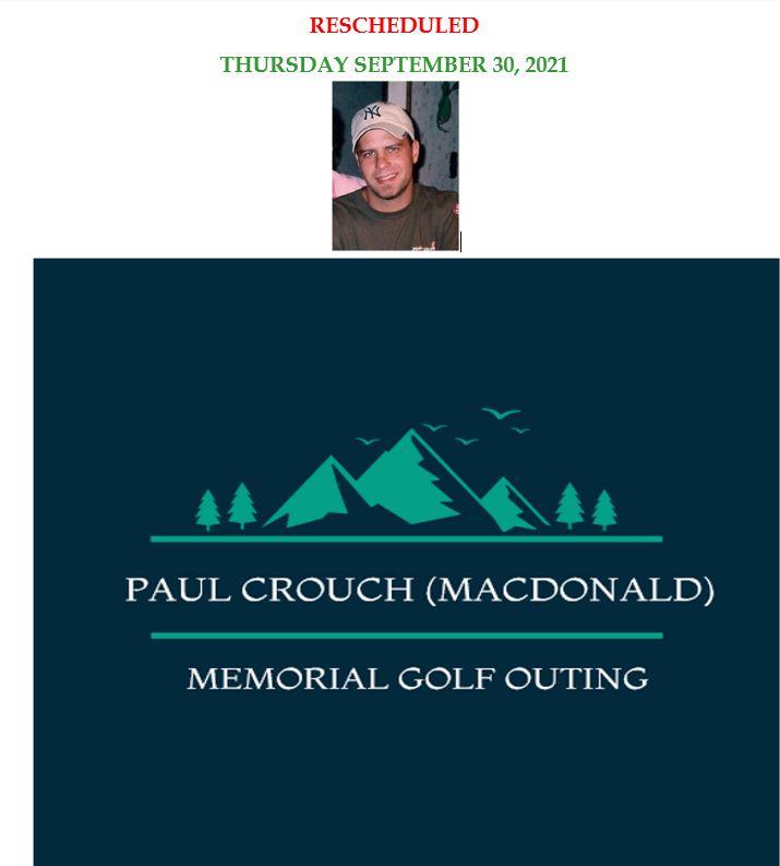 9th Annual Paul Crouch (MacDonald) Memorial Golf Outing logo