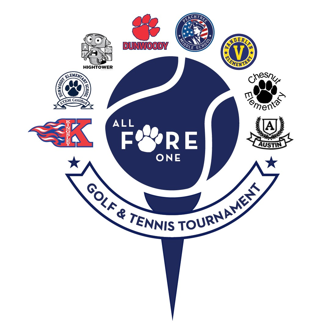 All Fore One Golf & Tennis Tournament logo