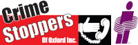 17th Annual John Harrison Golf Tournament   - Oxford Insurance Brokers       ==POSTPONED UNTIL 2021 DUE TO COVID==               - Crime Stoppers of Oxford logo