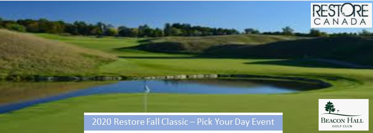 Restore Beacon Hall Rolling Golf Event logo
